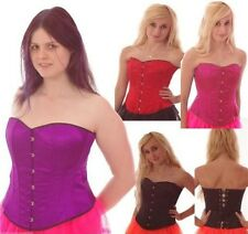 BASQUE/ CORSET STEEL BONED SIZE 6-18 GOTH BURLESQUE TUTU FANCY DRESS