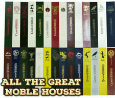 Game of Thrones Bookmark- Foil Blocked (bonded Leather) LOOK! - ALL GREAT HOUSES