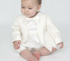 Baby Boys Luxury Christening Romper Suit Outfit Special Occassion 0-18 Months