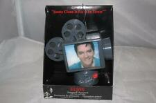 ELVIS ILLUMINATED MUSICAL ORNAMENT Movie  Projector Santa Claus Back is in Town