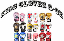 Kids Boxing Gloves 8 oZ Punch Bag Sparring Training Mitts MMA  R A X