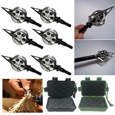 Lot 100 Grain Broadheads Archery Hunting Sharp Wheel Arrow Head Steel Blade New