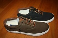 New In Box Ralph Lauren Polo Vaughn Canvas Sneaker Shoes SHIP FREE FAST US