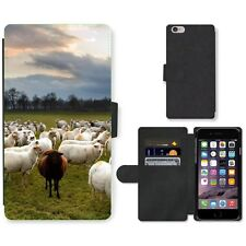 Phone Card Slot PU Leather Wallet Case For Apple iPhone Only one black sheep in