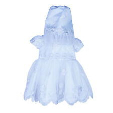 Baby Girl Christening Outfit Girls 3PC White Lace Dress Baptism Gown Cape Hat