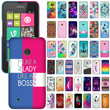 For Nokia Lumia 530 Phone Various Design Protector Hard Back Case Cover Skin