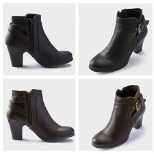 Ladies Linea Chelsea Ankle Boots with Buckle Strap RRP £55 in Black or Brown