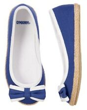 NWT GYMBOREE BLUE NAUTICAL BOW FLAT SHOES STRIPES AND ANCHORS  9 1