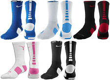New Men Nike Elite Cushioned Crew Basketball Socks Cancer Awareness