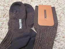 MISSONI ORANGE LABEL Brown Silver STOCKING TIGHTS S / M MSRP $245 Made In Italy