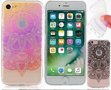 For iPhone 7 Circular Fancy Henna Design Soft TPU Gel Case Cover For iPhone 6s 6