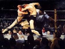 Stag Night at Sharkey's by George W. Bellows (classic boxing print)