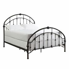 Full Sized Panel Bed Slat Headboard Footboard Wrought Iron Modern Bedroom Decor