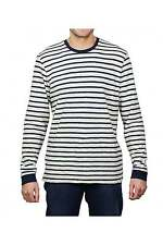 Edwin Jeans Tokyo Blues Long-Sleeved Striped T-Shirt (Off White/Navy)