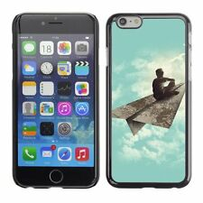 Hard Phone Case Cover Skin For Apple iPhone Dreaming boy on paper pl