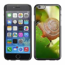 Hard Phone Case Cover Skin For Apple iPhone Snail on green leaves