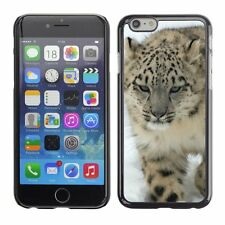 Hard Phone Case Cover Skin For Apple iPhone Leopard hunts on snow