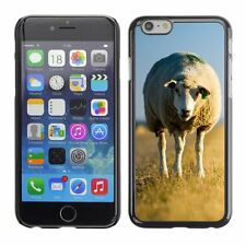 Hard Phone Case Cover Skin For Apple iPhone Lonely lamb on yellow pa