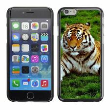 Hard Phone Case Cover Skin For Apple iPhone Proud tiger resting on g