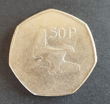 Old Irish Ireland 50p Fifty Pence Coin Available Dates 1970 - 1998