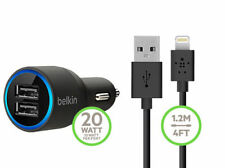Belkin 2.1A 2-Port Car Charger Micro-USB Cable For,Samsung,Iphone With package