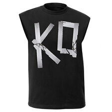 New WWE Authentic Kevin Owens Muscle Tee women's KO Black T-Shirt Y2J Jericho