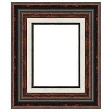 "Eli Frames Upscale Gallery Picture Frame Wood Brown Black Leaf 2.3/4"" Wide NEW"