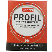 Leeda Profil Leader Casts with Droppers for Trout Fly Fishing
