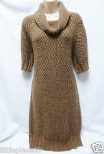 BNWT NEXT new Ladies Beige Chunky knit jumper dress longline tunic  8/10 12/14