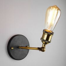 Antique Loft Copper Vintage Industrial Rustic Sconce Wall Light Lamp Fitting LED