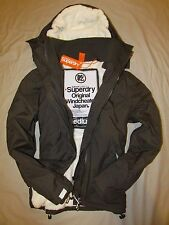 Superdry Mens Windcheater Hooded SHERPA lined Jacket coat Army Green