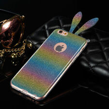 Bling Cute Glitter Luxury Soft Rabbit TPU Phone Case Cover For iPhone Models