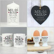 Personalised Mr & Mrs Wedding Gifts, Married Couples, Anniversary Present