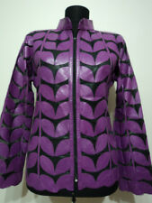 Purple Leather Leaf Jacket for Women All Colors All Regular Sizes Available