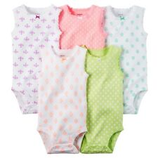 Carters Baby Clothing Outfit Girls 5-Pack Sleeveless Bodysuits Print