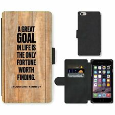 Phone Card Slot PU Leather Wallet Case For Apple iPhone 171 goal Kennedy wooden