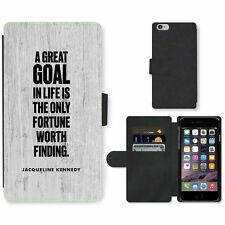Phone Card Slot PU Leather Wallet Case For Apple iPhone 132 goal Kennedy wood bl