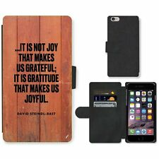 Phone Card Slot PU Leather Wallet Case For Apple iPhone 187 joy gratitude red wo