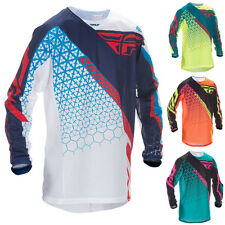 FLY Racing Kinetic Mesh Trifecta Motocross MX Dirt Bike Off-Road ATV Quad Jersey