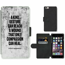 Phone Card Slot PU Leather Wallet Case For Apple iPhone 126 kind gesture white b