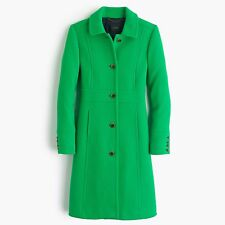 J.Crew Double-cloth lady day coat with Thinsulate® - NWT Size 4P - Green $365