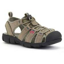 NWT $40-Youth Boys Sonoma Brown Tan Canvas Sport Sandals- 12, 13, 1, 2, 3, 4, 5