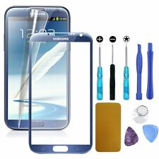 Front Outer Screen Glass Replacement for Samsung Note 2 Blue Repair Tools Kit