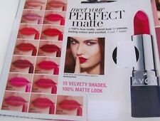 Avon.MATTE LIPSTICK(1st Post)Colour=PEACH or PINK(Avon Np£8)Perfectly Velvet.NEW