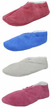 Womens Ladies Real Suede Leather Faux Sheepskin Lined Shoes Slippers 4 5 6 7 8 9