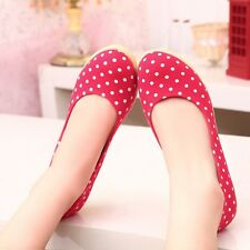 Womens Canvas Oxfords Polka Dot Platforms & Wedges High Heels Casual Lady Shoes