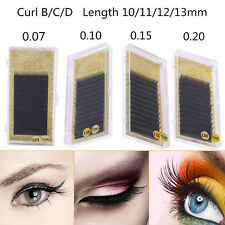 Mixed Size Imitation Mink Individual Eyelash Extension False Lash Curl B/C/D MF
