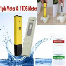 Digital LCD PH Meter TDS EC Water Purity PPM Filter Hydroponic Pool Tester ON