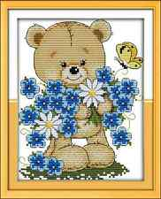 Kit broderie point de croix imprimé/compté,11CT/14CT,Little bear ,Cross Stitch