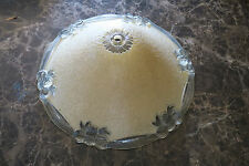 Vintage Art Deco Thick Glass Ceiling Lamp Shade